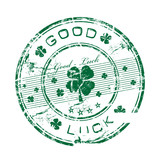 Good luck rubber stamp poster