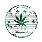 Marijuana rubber stamp poster