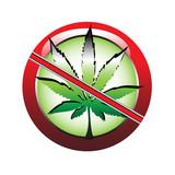 Forbidding marijuana poster