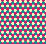 Hexagonal seamless pattern poster
