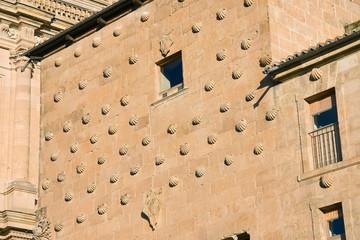 Detalle de la casa de las conchas, Salamanca (Spain)