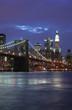 Brooklyn Bridge in New York at twilight