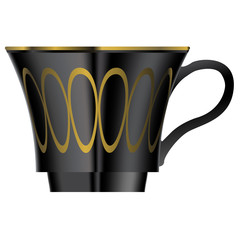 Vector of elegant tea or coffee cup