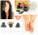 Spa and wellness treatment: massage, manicure, pedicure