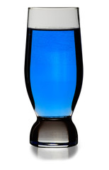 Blue glass isolated on white