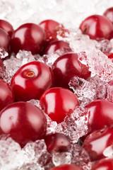 cherry with ice