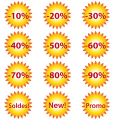 Summer sun sale stickers