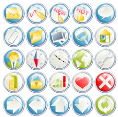 Vector icon set for web, forum, site or blog