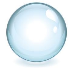 Sphère bleue transparente vectorielle