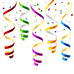 Party streamers. Vector.