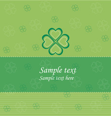 Green card with clover