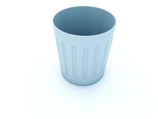 Empty bin isolated on white