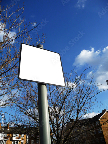 Blank Sign Near Tree