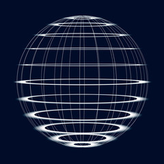 Abstract Globe of the World