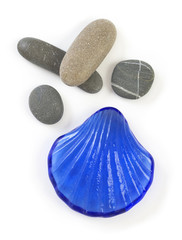 Stones with glass Shell