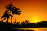 Sunset In Oahu Hawaii poster