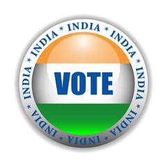 India Vote Button