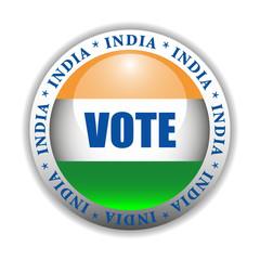 India Vote Button
