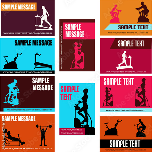 Health/Exercise Business Card Templates