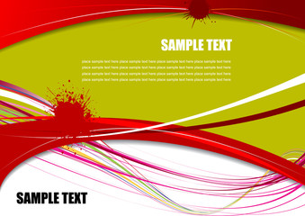 Red, Green and Yellow grunge background. Vector illustration
