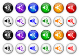 """Volume Control"" buttons II (x24) (various colours)"