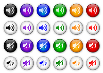 """Volume Control"" buttons I (x24) (various colours)"