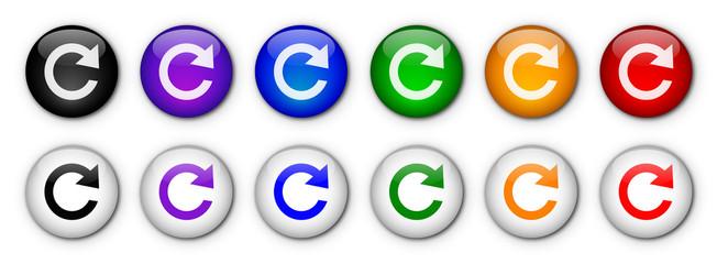 "Boutons ""Rafraichir / Actualiser"" (x12 - Multicolores)"
