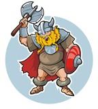 Viking, vector illustration poster