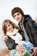 Couple de jeunes et concept écologie