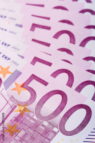 500 euro banknotes, can be used as a background