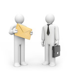 Delivery of business correspondence poster