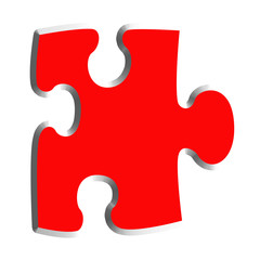 Large Red Puzzle Piece