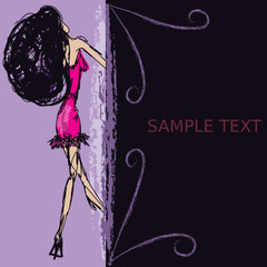 Top Model Text Background