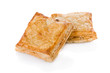 Puff pastry (sweet or salted)  isolated on white background.