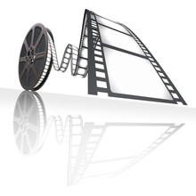 Film Reel. Concept van cinematografische industrie.