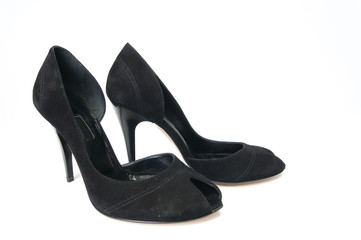 Pair of black female shoes