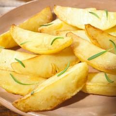 kartoffelspalten closeup