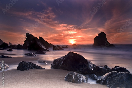 canvas print picture Adraga beach