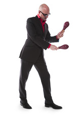 Man playing maracas