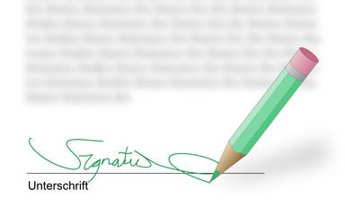 Unterschrift Detail
