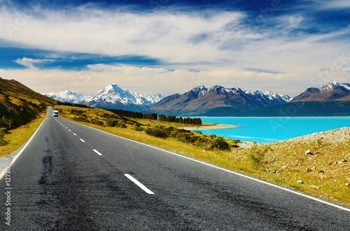Fotobehang Nieuw Zeeland Mount Cook, New Zealand