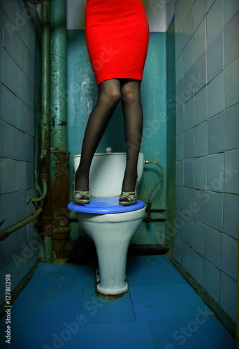 Woman in restroom