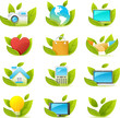 Nouve vector icons. green  icon graphics