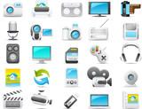 Nouve icon set: Media and Electronics