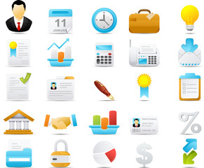 Nouve icon set: Business and Finance