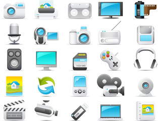 Nouve icon set: Media and Electronics
