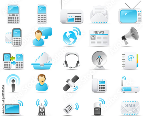 Nouve icon set: Wireless and communication technology