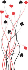 poker, bridge vector illustration