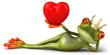 Leinwandbild Motiv Grenouille amoureuse