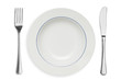 Plate and silverware isolated